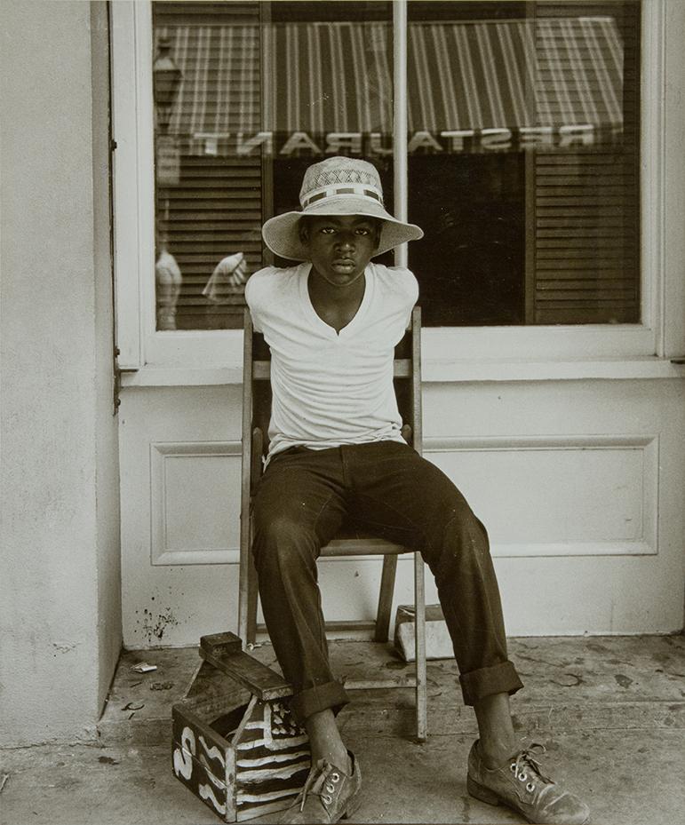 ©Raymond Smith (American, born 1942),Bourbon Street, New Orleans,1974, gelatin silver print, Lent by the artist
