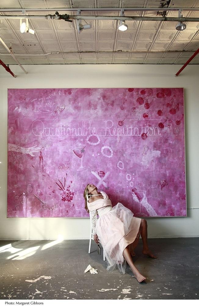RachelH-Pink Prom Dress-Reclined © Margaret Gibbons courtesy of the Lelia Heller Gallery