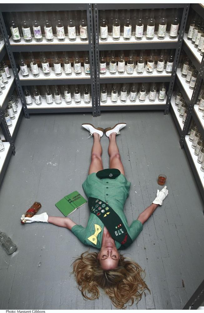 RachelH-GirlScout on Floor © Margaret Gibbons courtesy of the Lelia Heller Gallery
