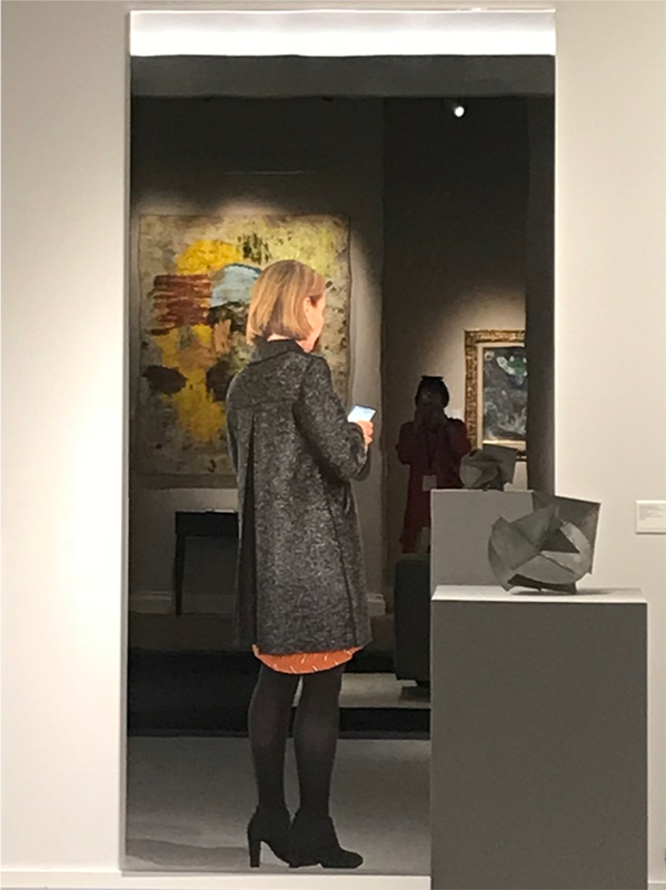 Michelangelo Pistoletto,  Woman with Coat and Smartphone , 2018