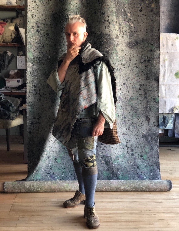 Posing in new Poncho in the studio ...photographed by Christian Rocha