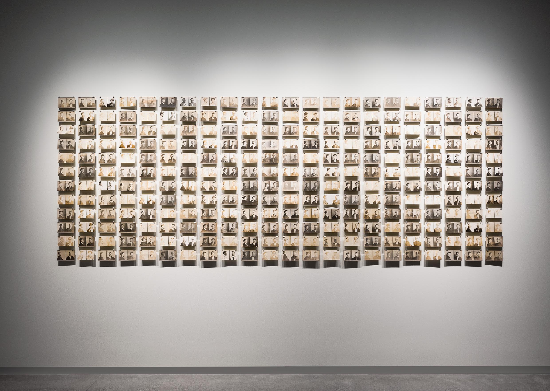 Photographer Unknown, Mugshots, Scranton, Pennsylvania, 1900s–1940s, installation view, About Face, Pier 24 Photography, San Francisco.