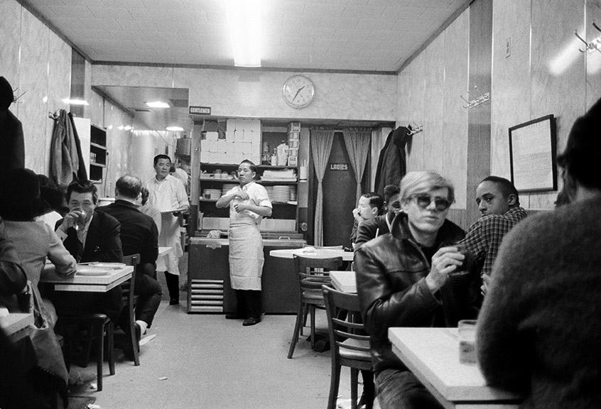 Stephen Shore. 1:35 a.m., in Chinatown Restaurant, New York, New York . 1965–67. Gelatin silver print, printed c. 1995. 9 × 13 1/2″ (22.9 × 34.3 cm). © 2017 Stephen Shore, courtesy 303 Gallery