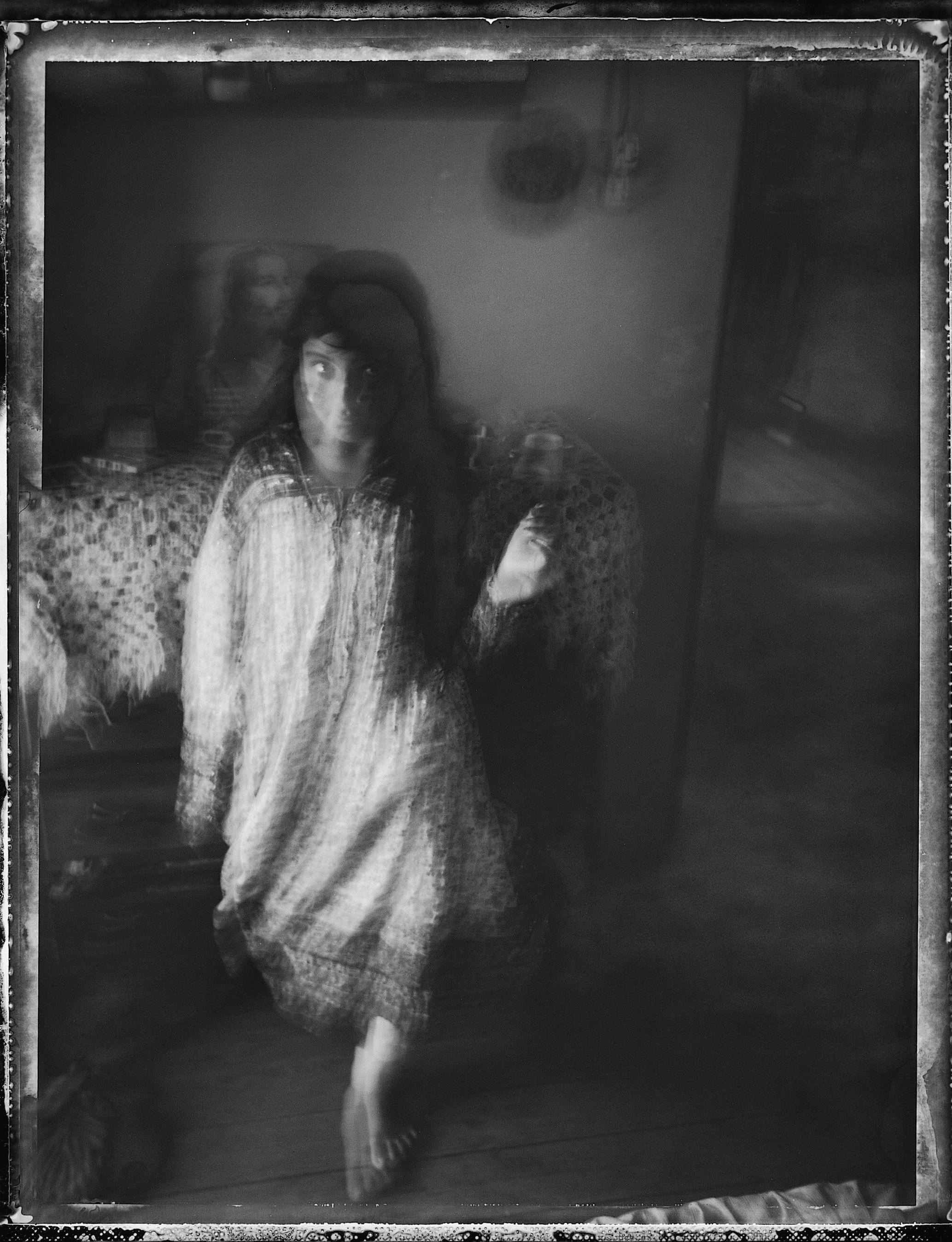 "©Wendy Ewald Courtesy Steven Kasher Gallery, New York,""The phantom"" - Teresa López, Mexico, 1991"
