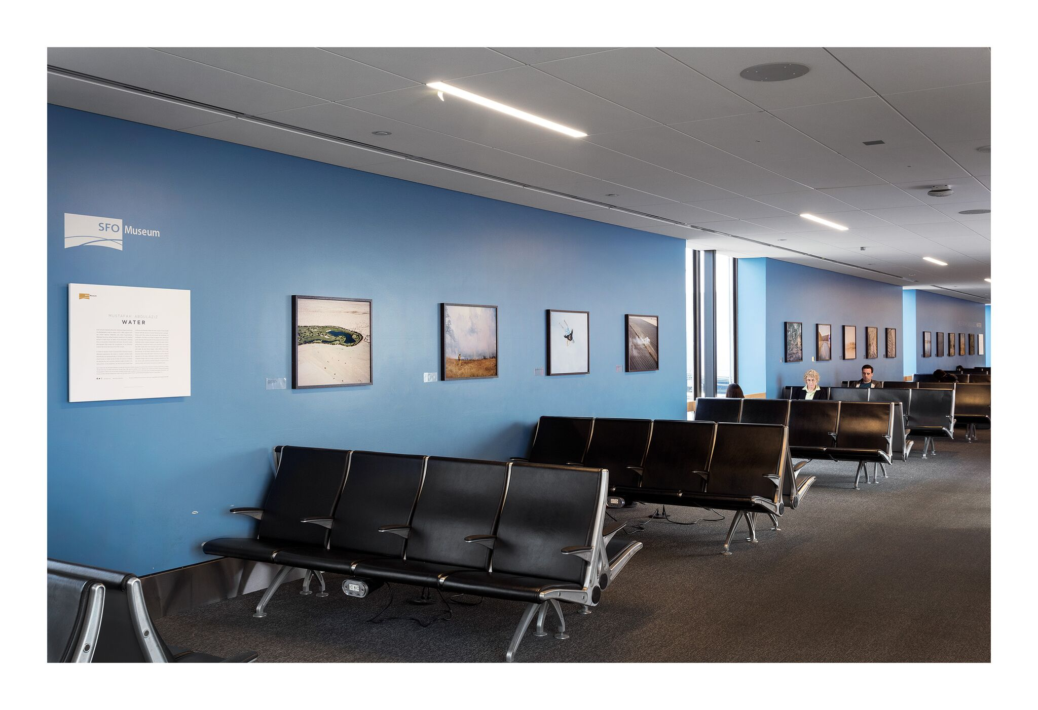 Photos displayed are from Mustafah Abdulaziz's  Water,  as displayed in SFO Terminal 1 from August 07 - October 31, 2017. Courtesy of SFO Museum.