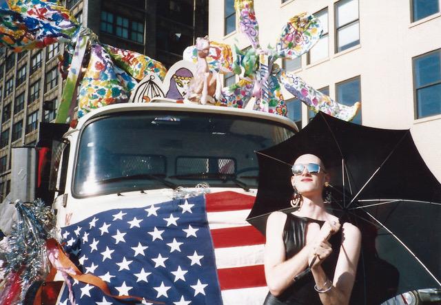 Linda Simpson,  Dean Johnson at Pride Parade , 1987