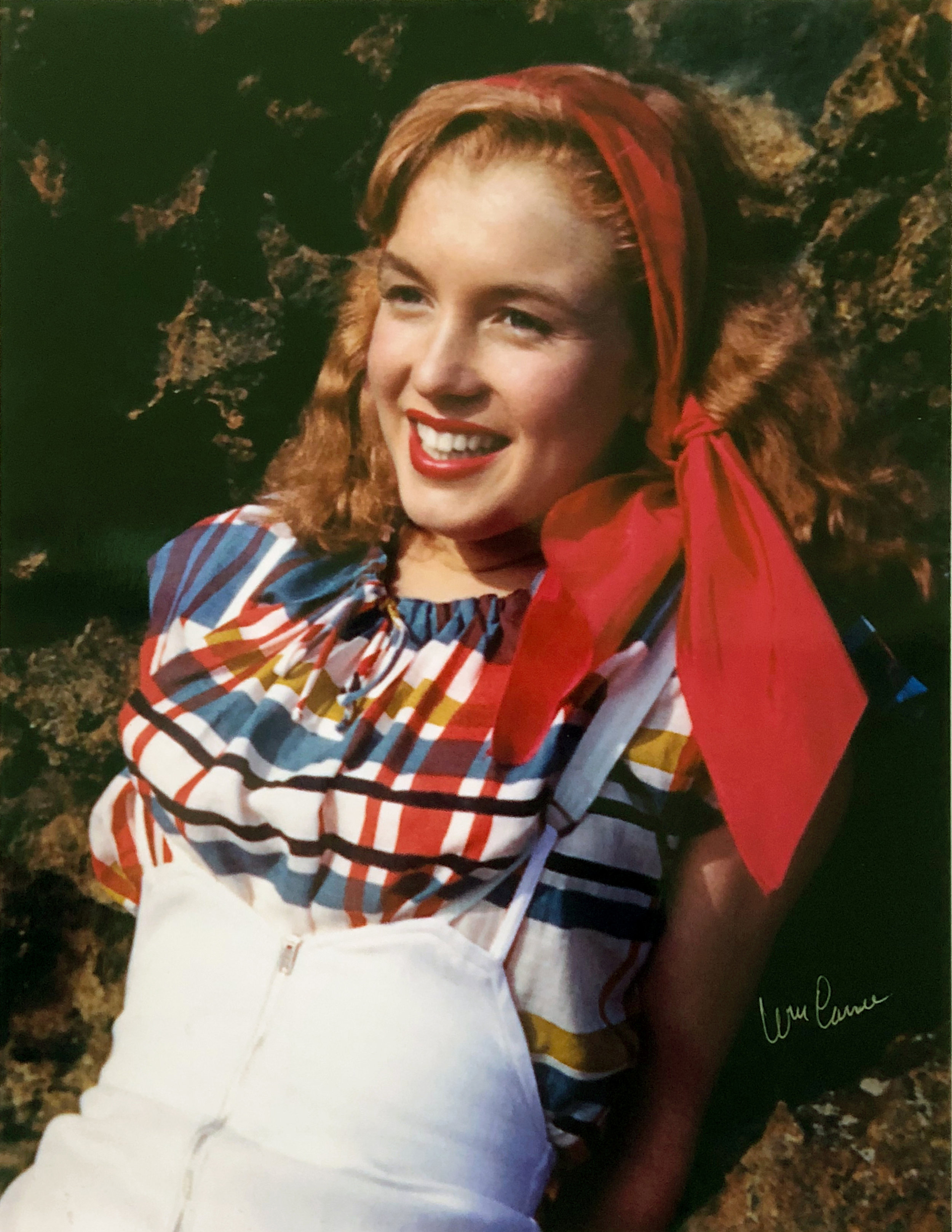 """© William Carroll """"Norma Jean"""" 1945 Printed 2010  Color Photograph on Photo Paper, Made From Original Negatives  Hand Signed Stamped And Numbered"""