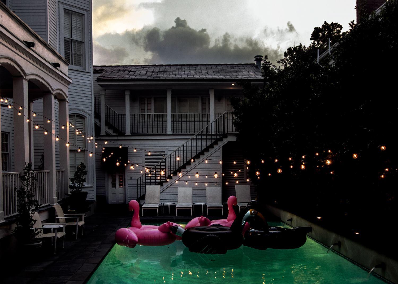 Summer Melrose Flamingos Faubourg Marigny New Orleans, Louisiana.jpg