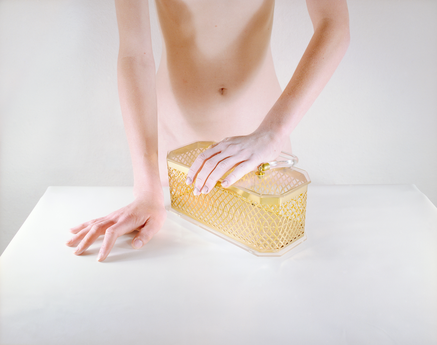 Now and Then © Jo Ann Callis   Woman with Gold Purse , 1979, Archival Pigment Print, 16 x 20 inches