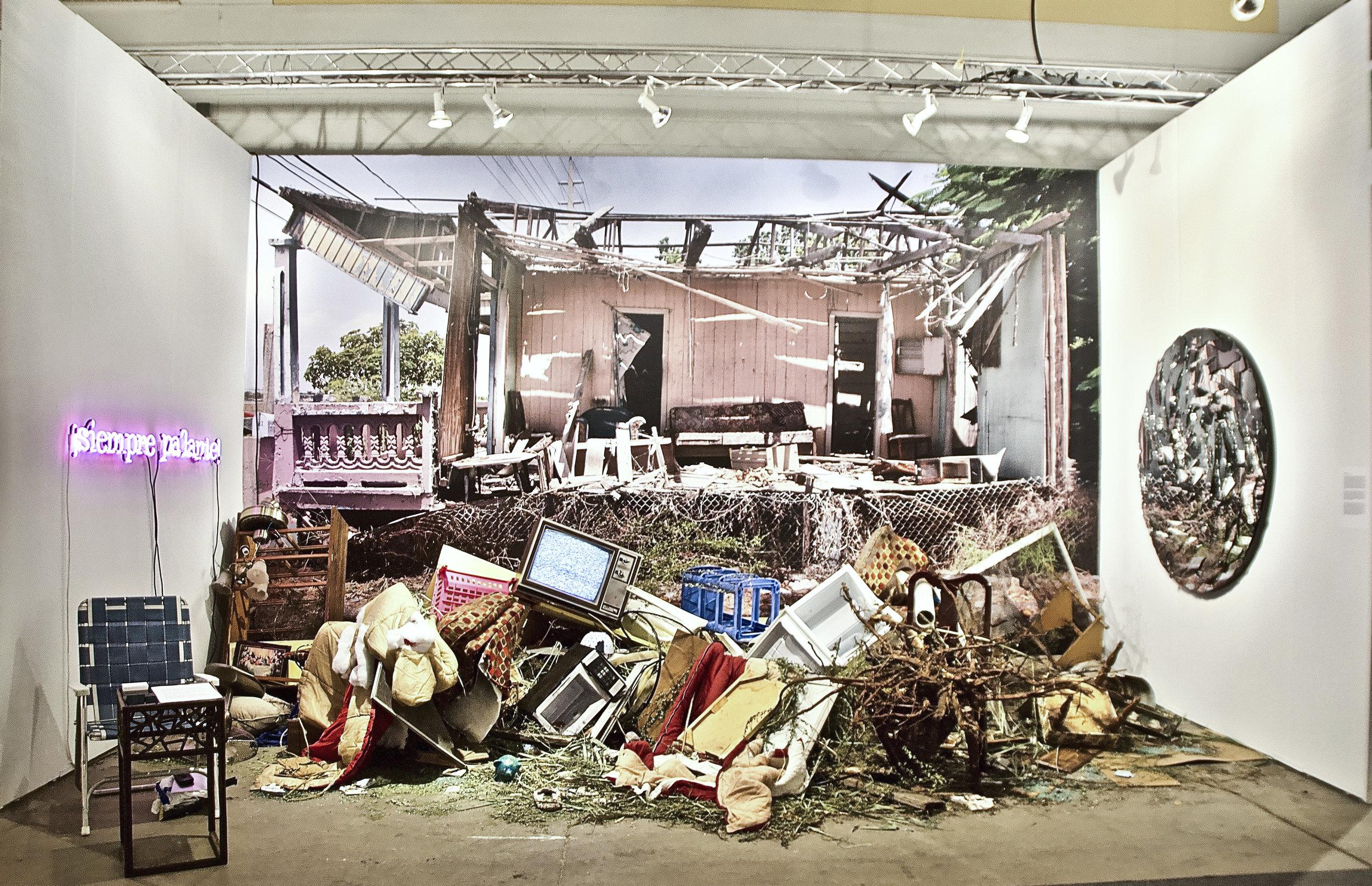 Photo of Dzine Rolón's work © Ruben Natal-San Miguel