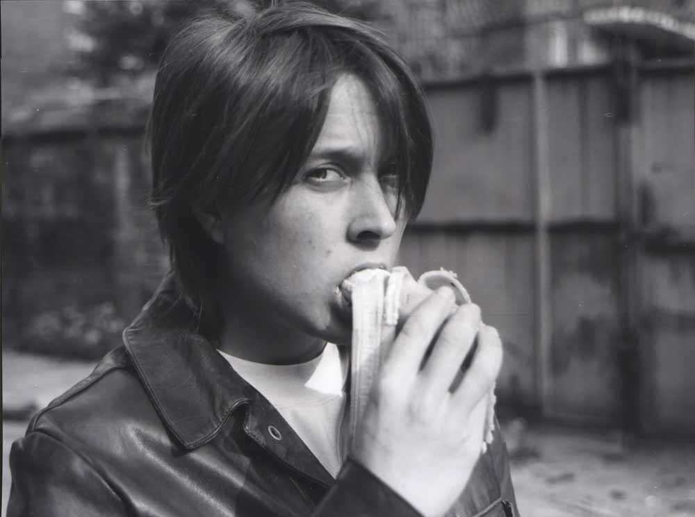 Eating a Banana, 1990 Black-and-white photograph 41 3/8 x 44 3/8 in (105 x 112.8 cm)    Courtesy Sadie Coles HQ, London, and Gladstone Gallery, New York and Brussels