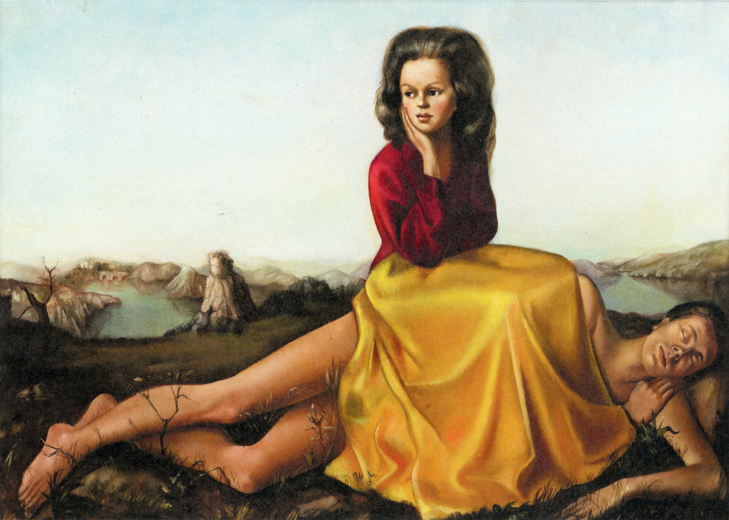 Woman Seated on a Naked Man (Femme assise sur un homme nu), 1942, Oil on canvas  Private collection © Leno