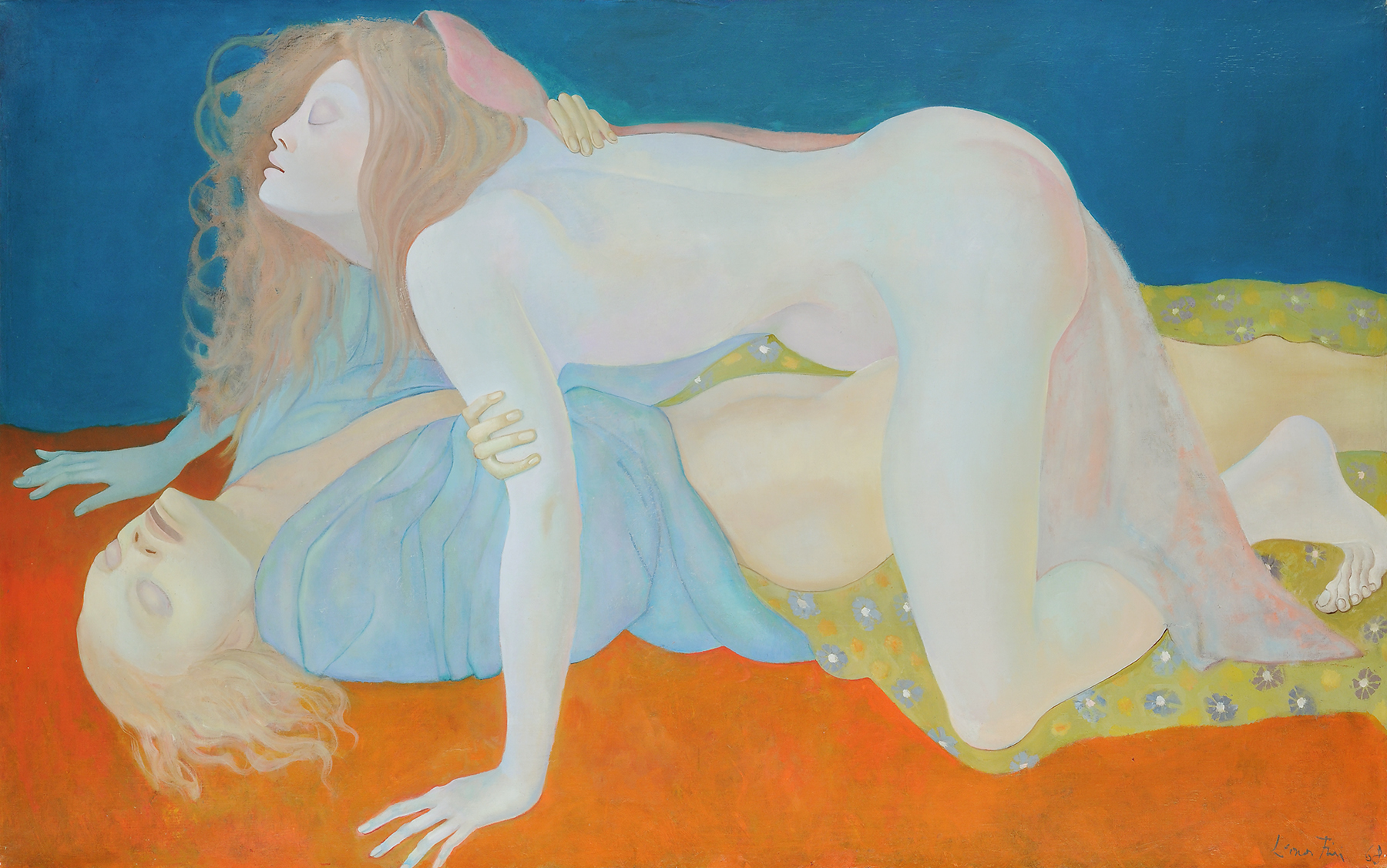 The Blind Ones (Les Aveugles), 1968, Oil on canvas, Courtesy of Weinstein Gallery, San Francisco