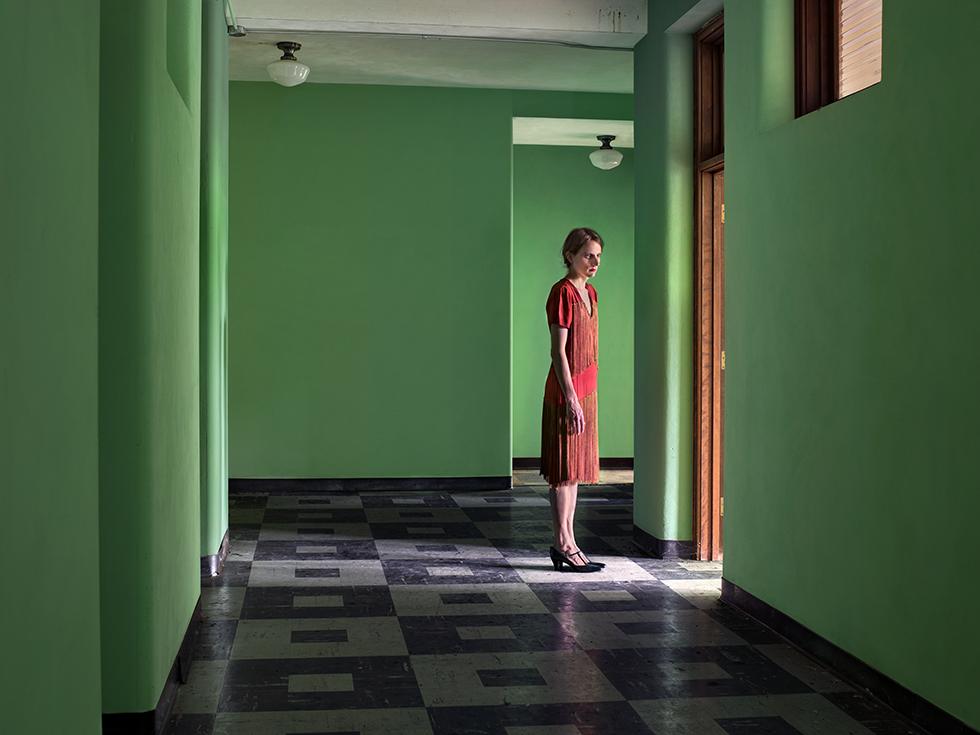 """Image: © Lissa Rivera, """"Green Corridor,"""" 2017, Archival pigment print, Courtesy of ClampArt, New York City"""