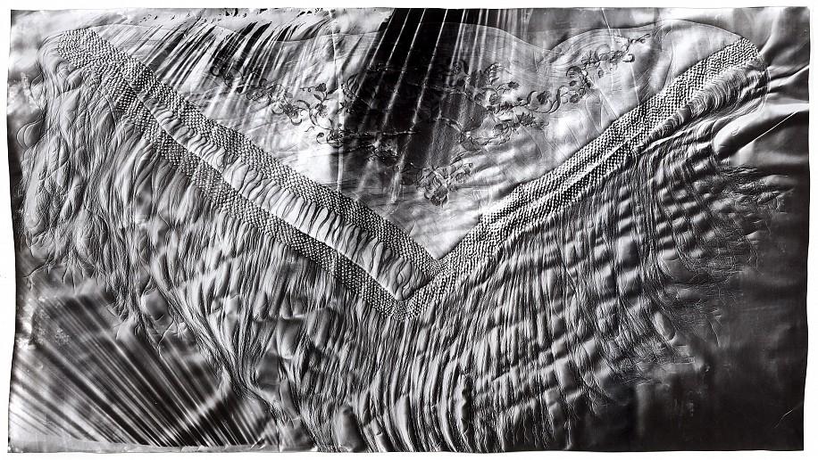 """Manton de Manilla (2),""   2017. Gelatin silver print; unique photogram with impression. Courtesy of Gitterman Gallery. © Klea McKenna"