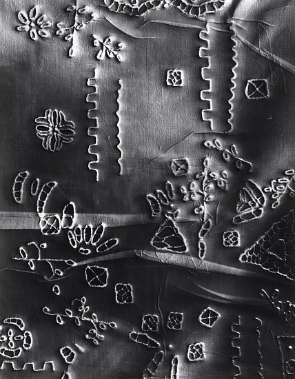 """Anonymous (2),""   2018. Gelatin silver print; unique photogram with impression. Courtesy of Gitterman Gallery. © Klea McKenna"