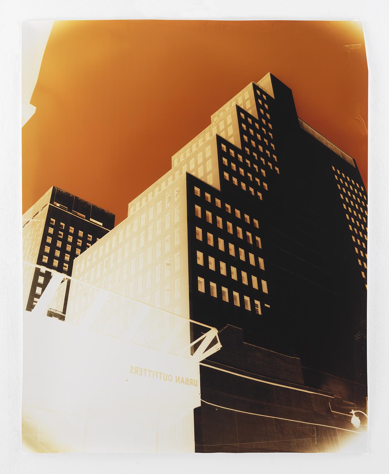 West 42nd Street at 5th Avenue  , 2018. Negative Chromogenic Photograph  Collection of John Chiara. © John Chiara