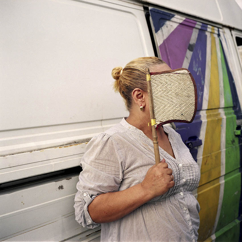 Sex worker Solange in front of her van, from  Solange , by Sabrina Mariez. © Sabrina Mariez