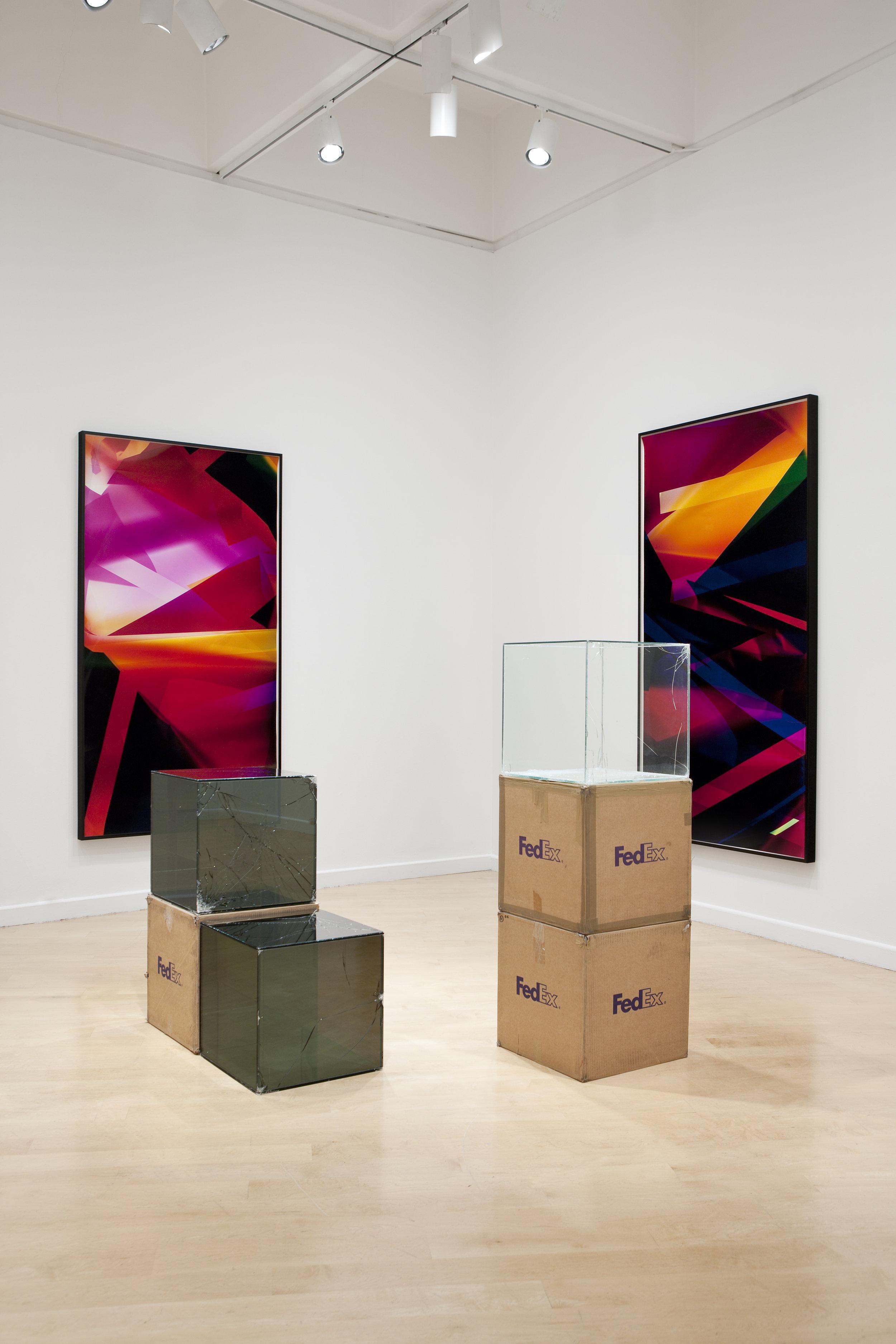 Legibility on Color Backgrounds installation, Hirshhorn Museum and Sculpture Garden, Washington, D.C., 2009