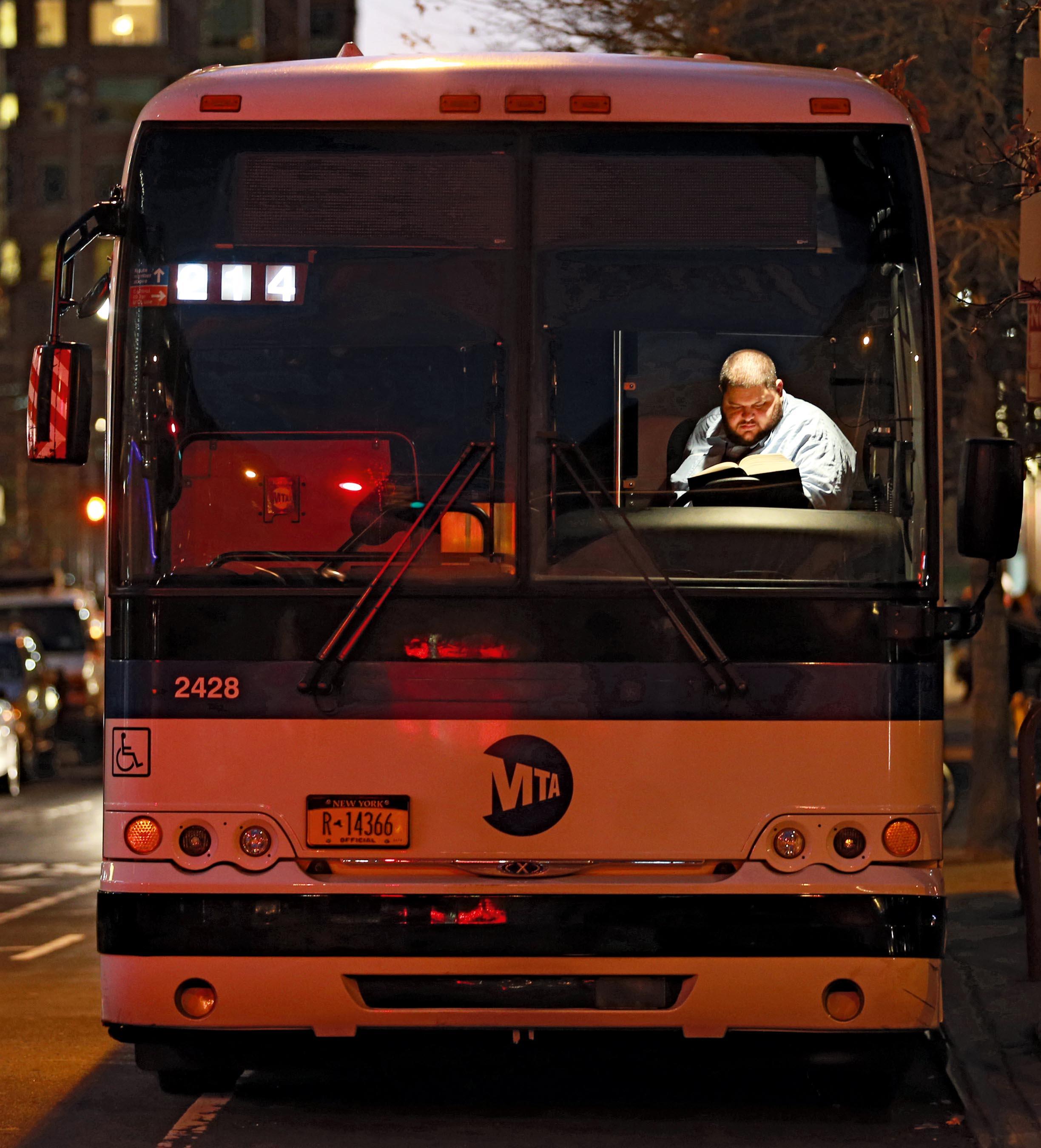 Bus Driver, Tribeca, NYC, 2013 © Lawrence Schwartzwald