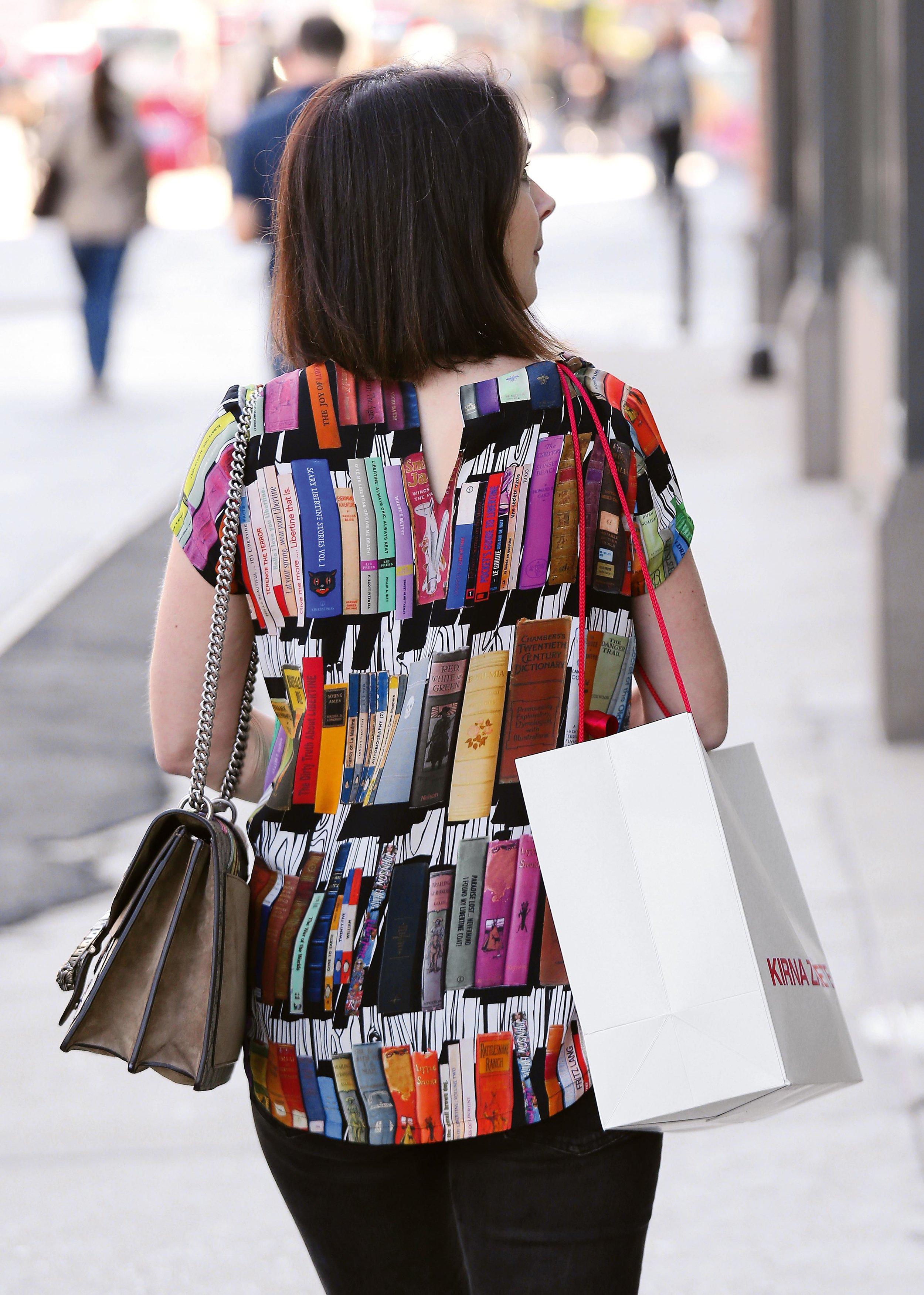 Book Blouse, Lafayette Street, NYC, 2016 © Lawrence Schwartzwald