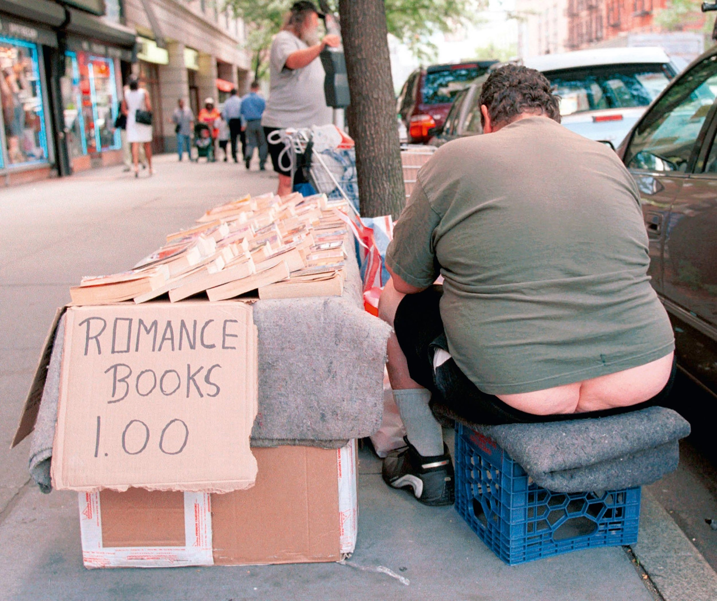 """Crack Salesman,"" Columbus Avenue, NYC, 2001 © Lawrence Schwartzwald"