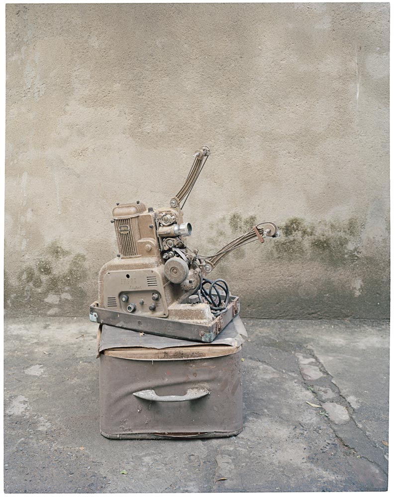 """Ampro Stylist 16 mm Projector (Image India) - 14""   From ""Film Studio Series"",     2013 - 2014. 16 x 20 inch Archival Pigment Print. Courtesy of Nandita Raman © sepiaEYE"