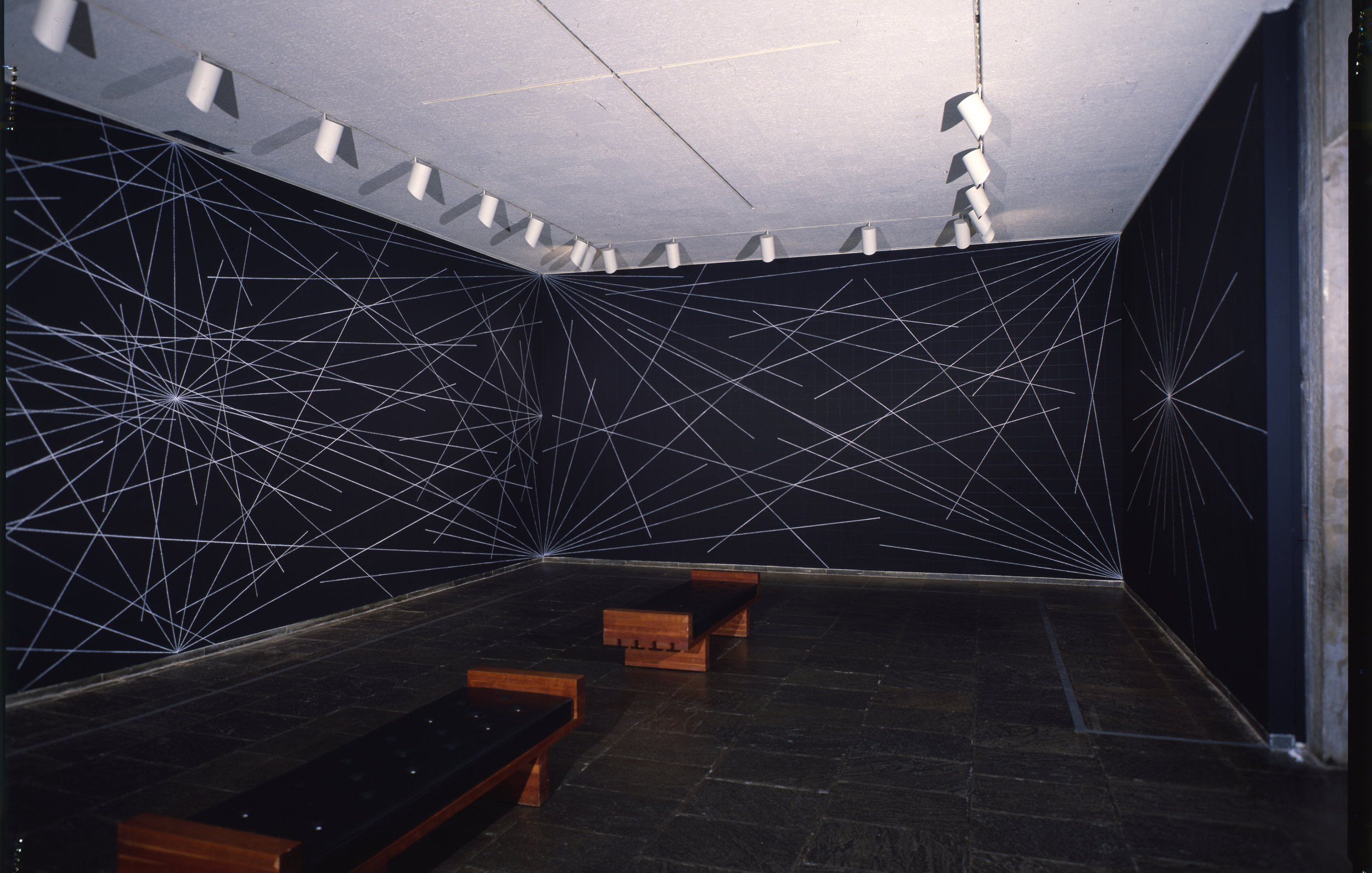 Sol LeWitt (1928-2007),  Wall Drawing #289 , 1976. Wax crayon, graphite pencil, and paint on four walls, dimensions variable. Whitney Museum of American Art, New York; purchase with funds from the Gilman Foundation, Inc. 78.1.1-4. © 2018 Sol LeWitt/Artists Rights Society (ARS), New York