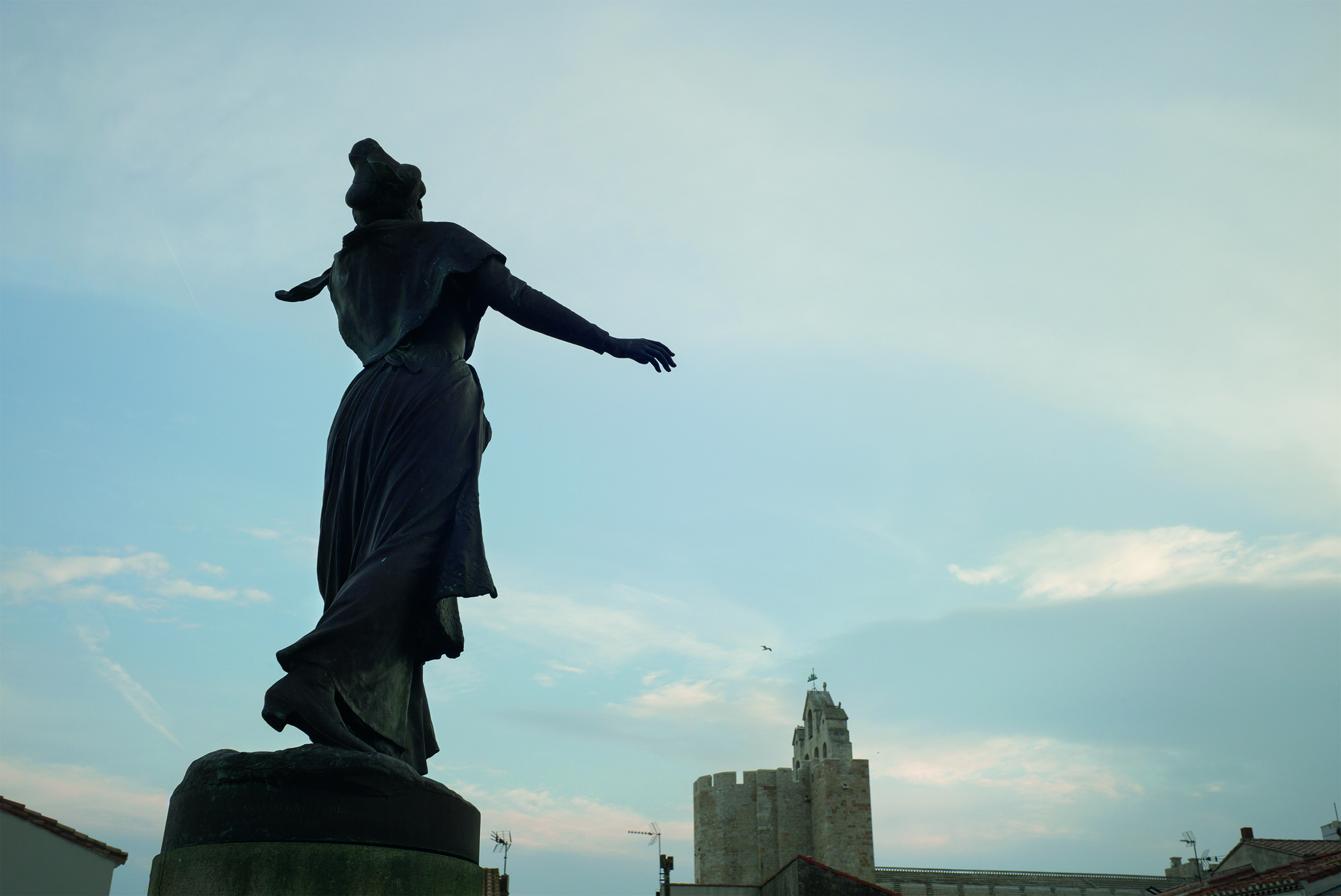 In the village of Saintes-Maries-de-la-Mer, at the edge of the Camargue, stands in a statue of a windswept Mireille, the heroine of Frederic Mistral's epic poem of that name. © Rachel Cobb. Courtesy of Damiani.