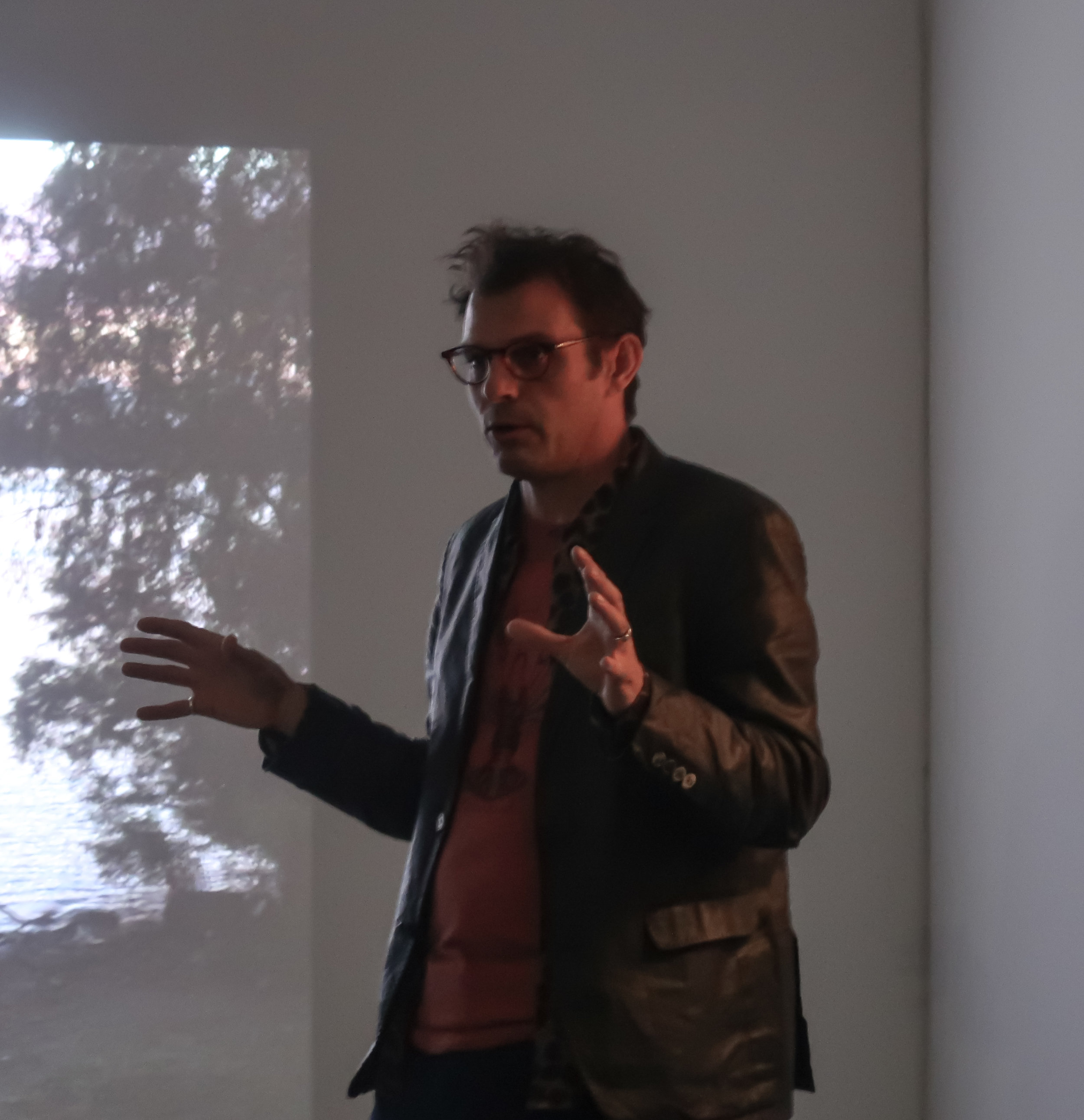 Jeff Whetstone during his exhibition's closing event  © Darcey Pittman, 2018