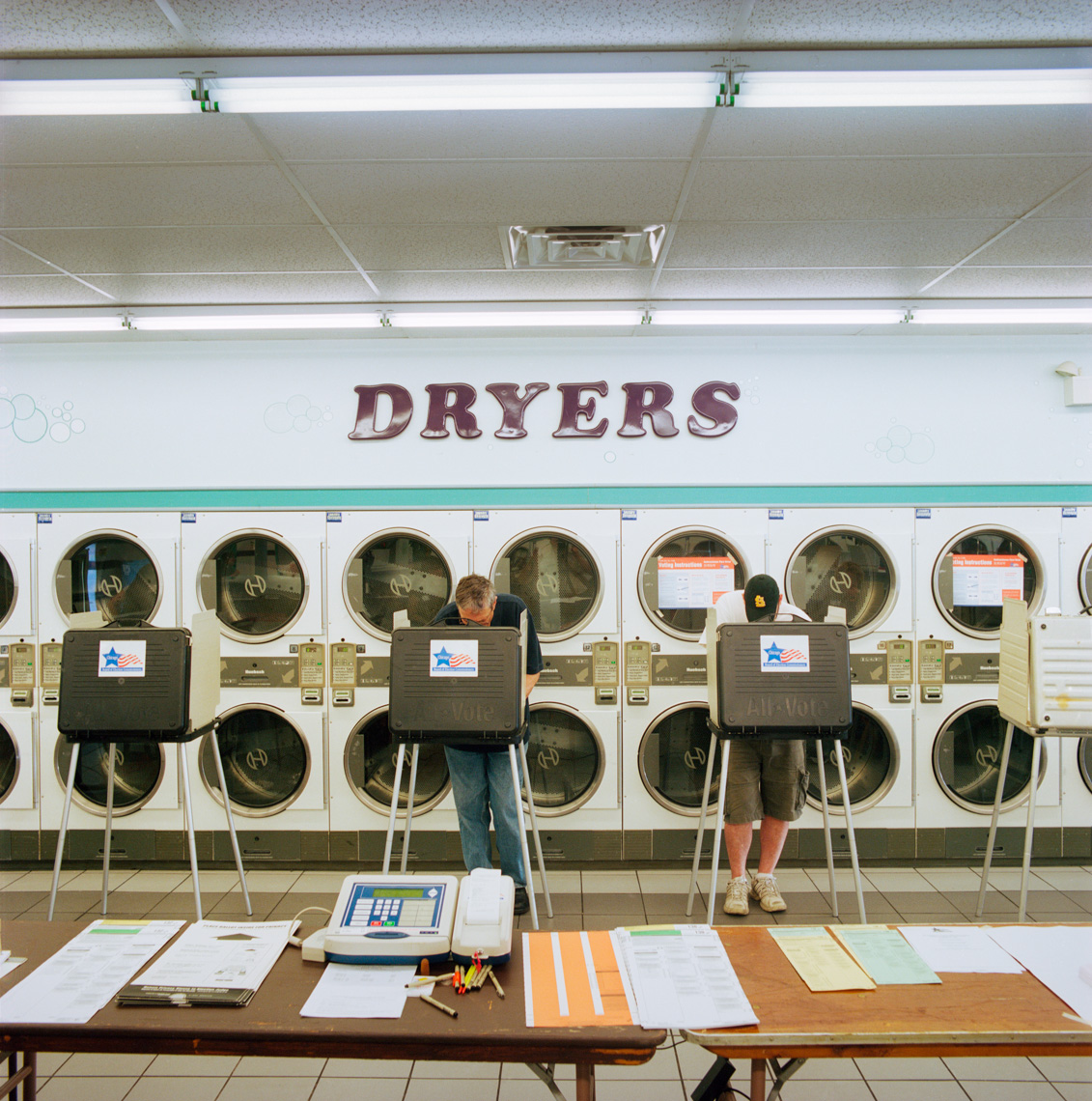 Image: © Ryan Donnell, The Polling Place Project, Laundromat, Chicago