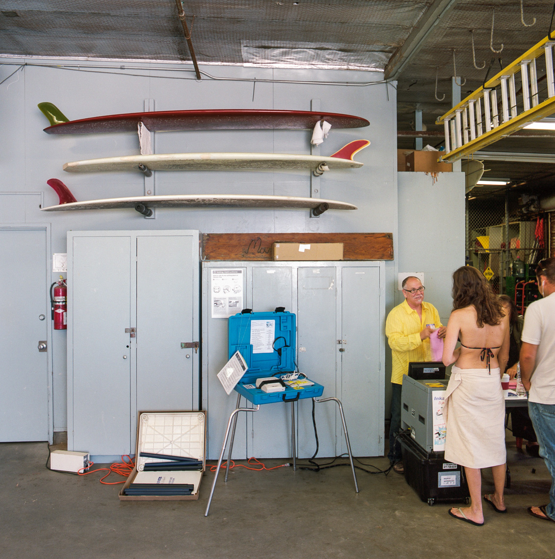 Image: © Ryan Donnell, The Polling Place Project, Beach Patrol, Los Angeles