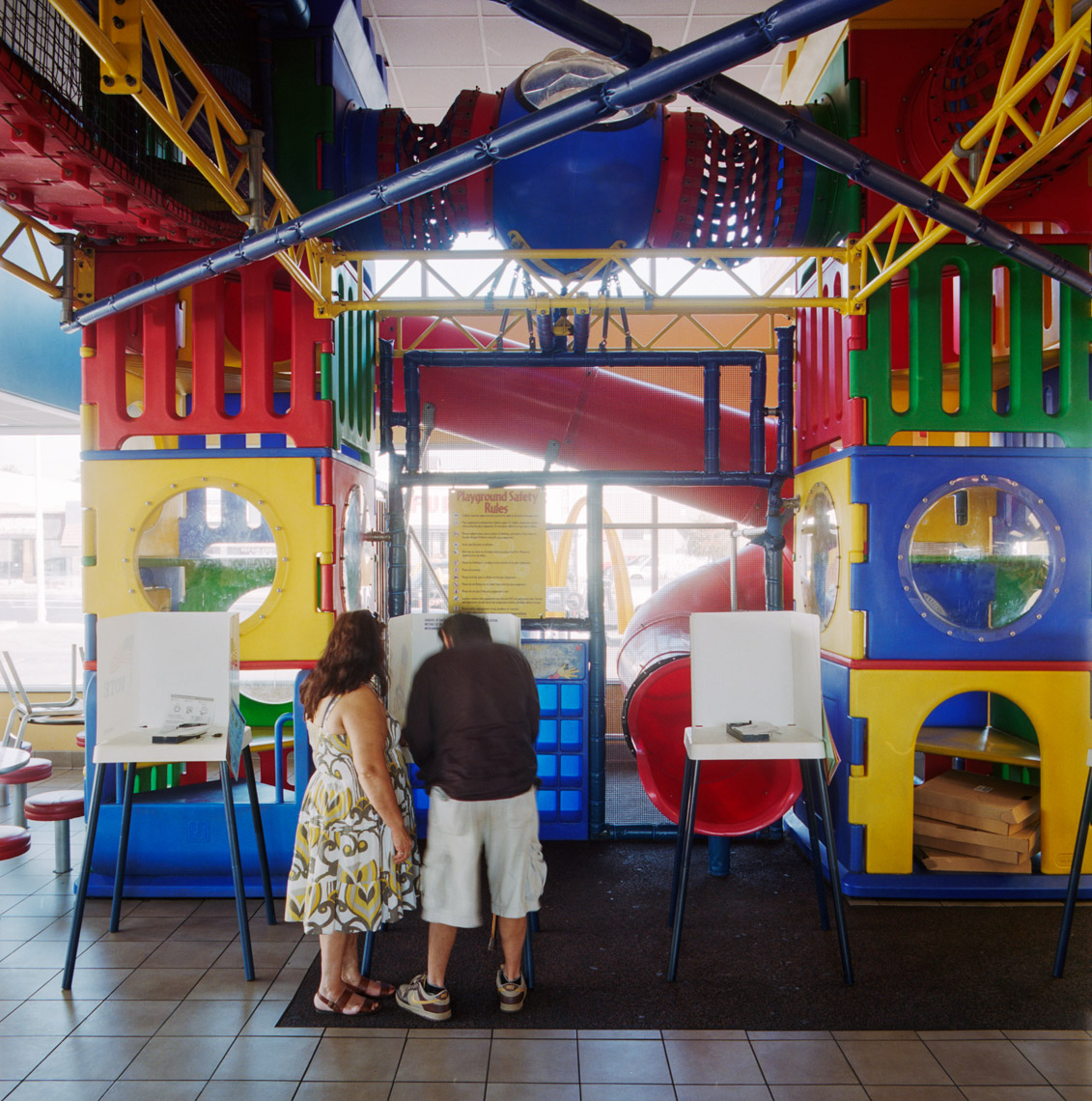 Image: © Ryan Donnell, The Polling Place Project, McDonald's, Los Angeles