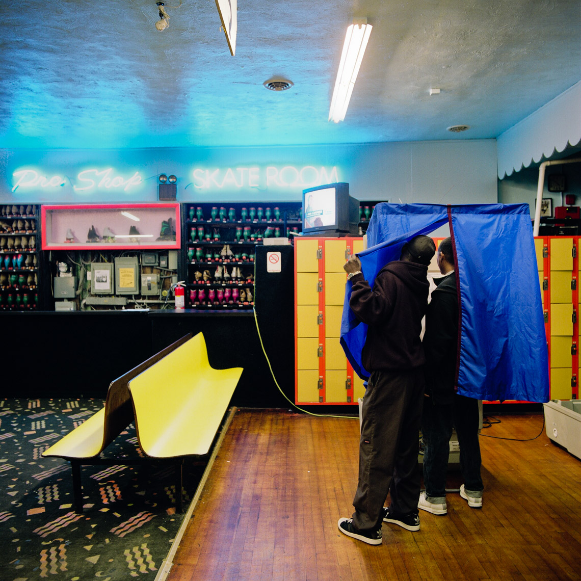 Image: © Ryan Donnell, The Polling Place Project, Roller Rink, Philadelphia