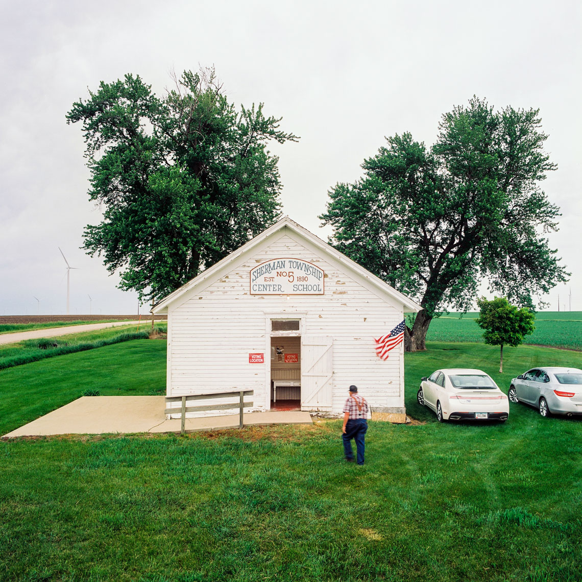 Image: © Ryan Donnell, The Polling Place Project, Historic School House, Iowa