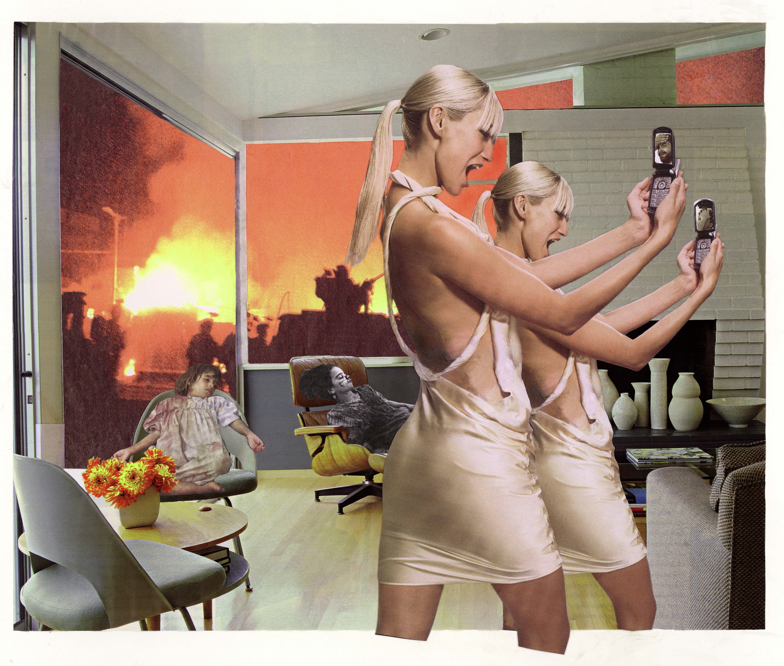 Martha Rosler, Photo-Op, from the series House Beautiful: Bringing the War Home, New Series, 2004, photomontage Artwork © Martha Rosler; image courtesy of the artist and Mitchell-Innes & Nash, New York