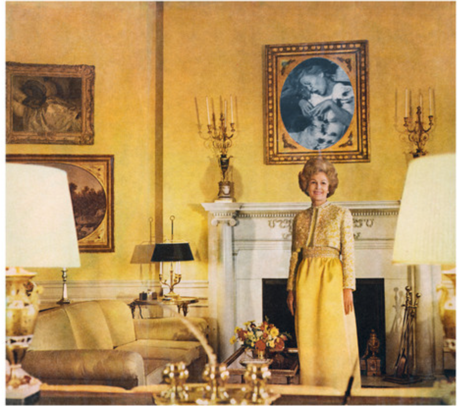 Martha Rosler, First Lady (Pat Nixon), from the series House Beautiful: Bringing the War Home, c. 1967-72, photomontage Artwork © Martha Rosler; image courtesy of the artist and Mitchell-Innes & Nash, New York