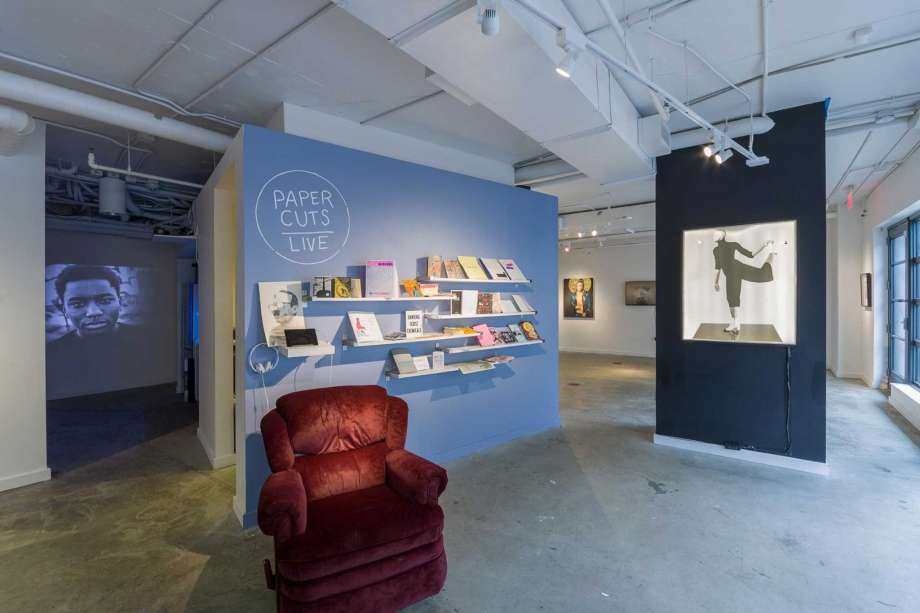 """A display of Christopher Kardambikis's """"Paper Cuts/Live"""" exhibit at Washington Project for the Arts. WPA stands to lose $112,700 in funding from the DCCAH by not signing the memorandum. ©  Washington Project For The Arts"""