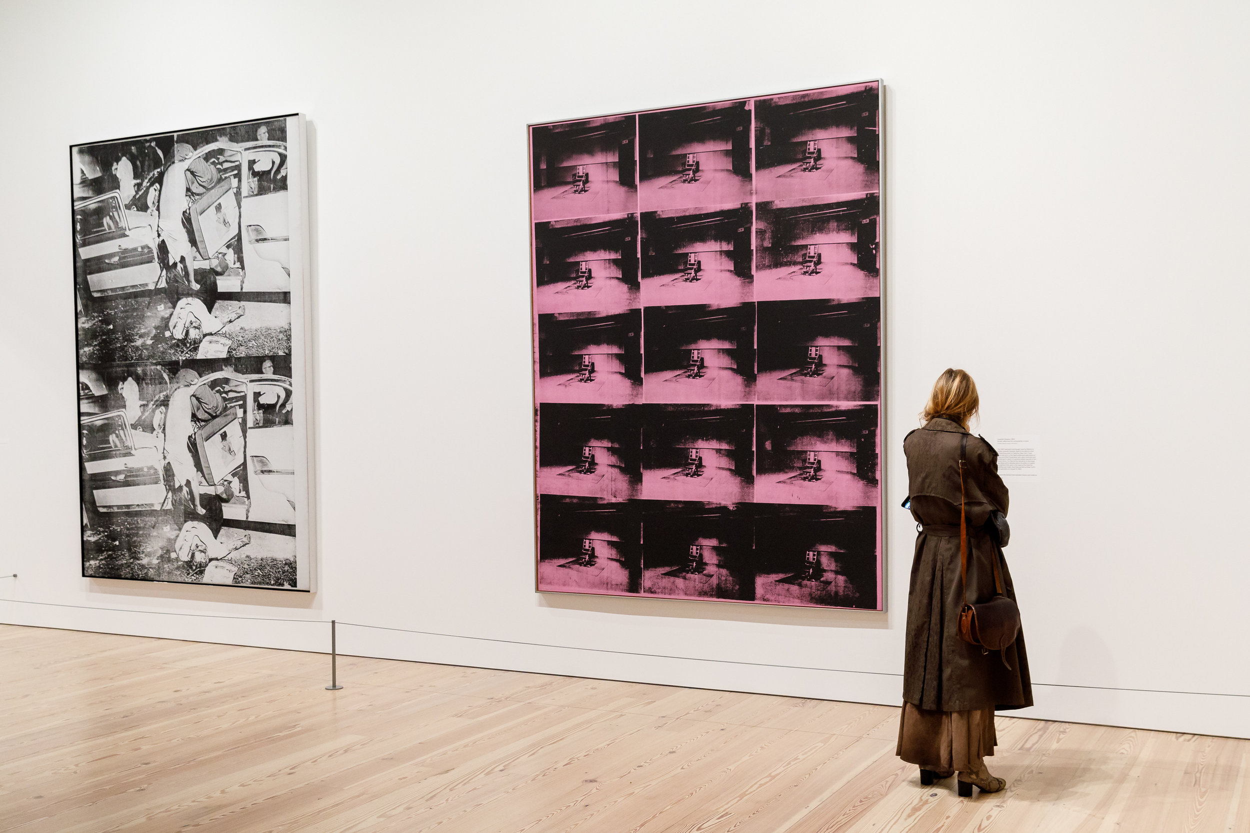 """Works from Warhol's """"Death and Disaster"""" series. Image courtesy of ©MatthewCarasella.com 2015/ All Rights Reserved"""