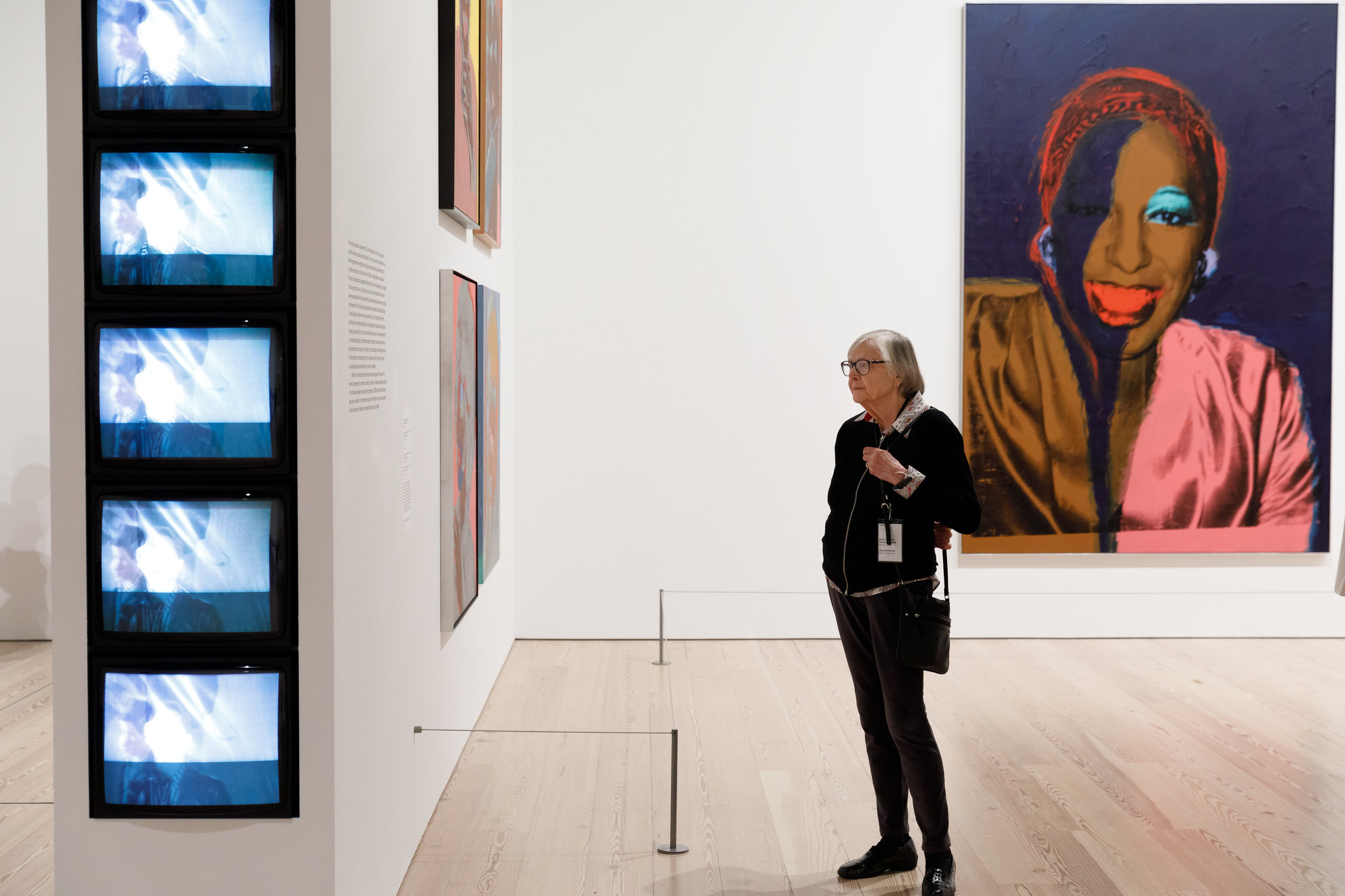"""On the right: Portrait of Wilhelmina Ross, part of Warhol's """"Ladies and Gentlemen"""" series. Image courtesy of ©MatthewCarasella.com 2015/ All Rights Reserved"""