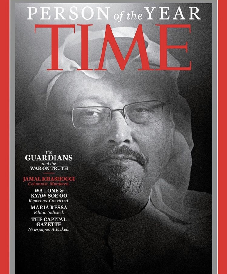 "Time magazine has chosen ""The Guardians and the War on Truth"" as its Person of the Year honorees © Time/AP"