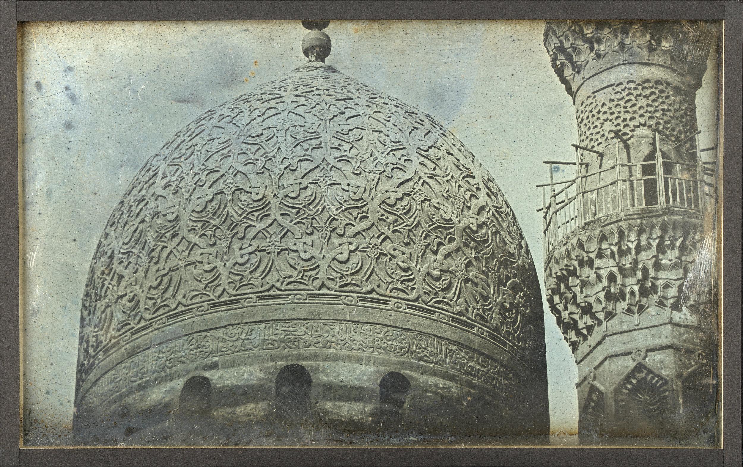 "Girault de Prangey, ""Dome, Khayrbak Mosque, Cairo, 1843"""