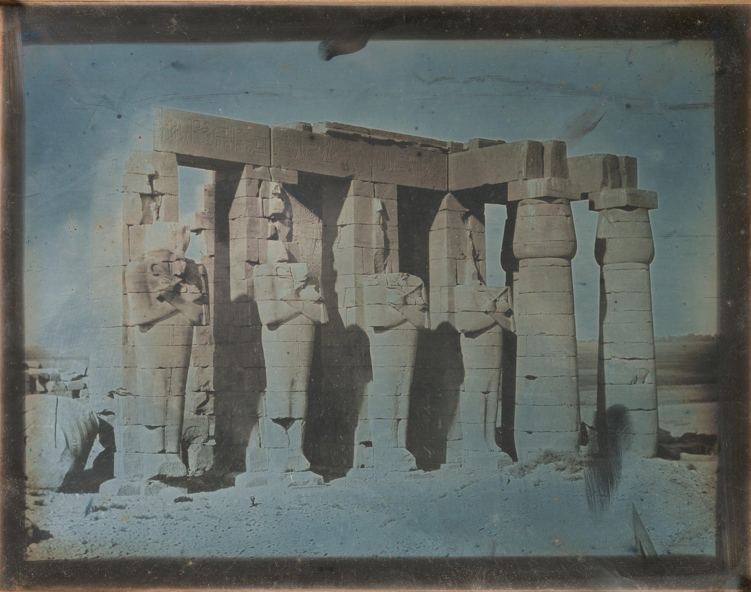 """Girault de Prangey, """"Ramesseum, Thebes, 1844"""""""