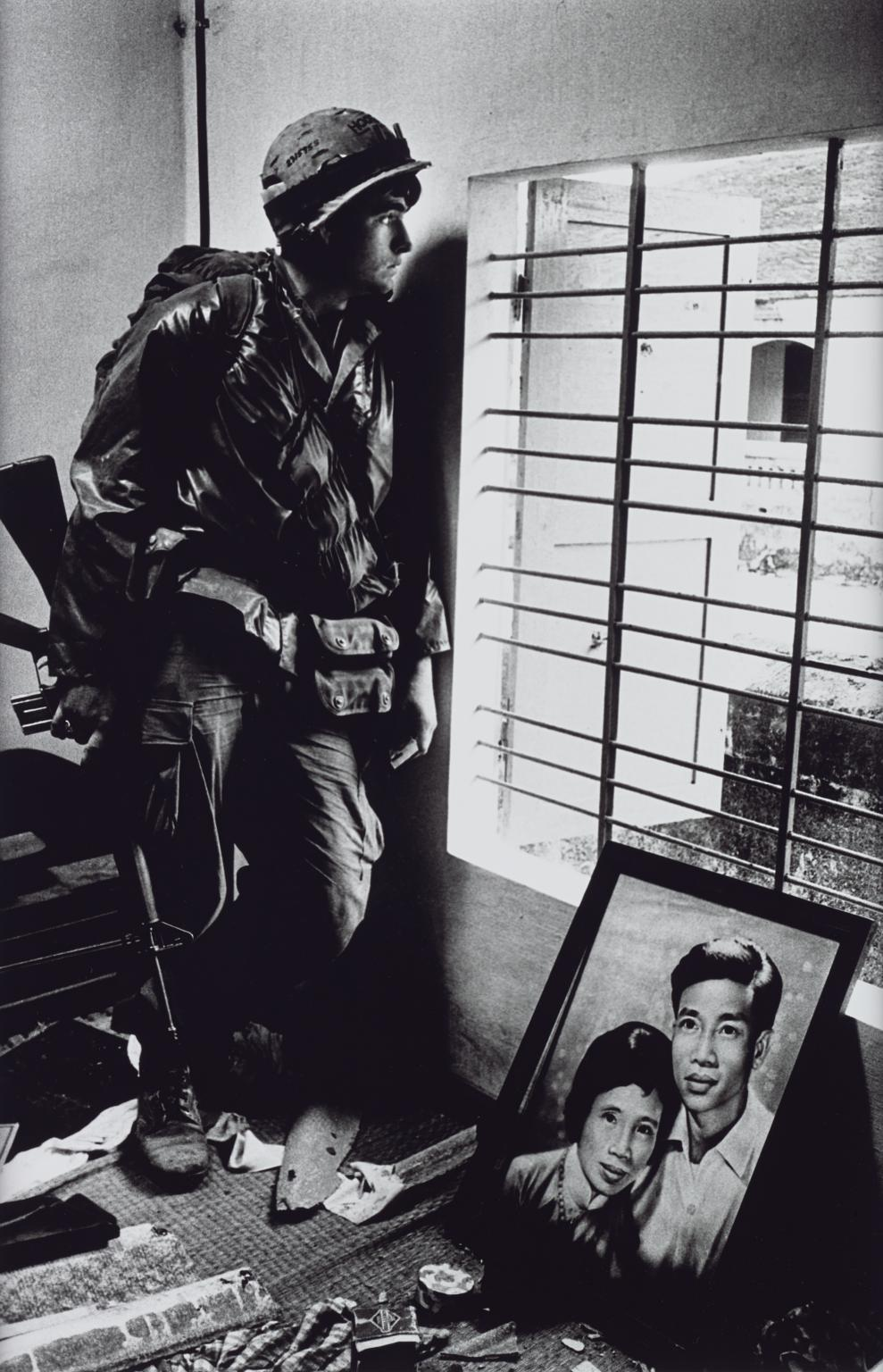 Don McCullin,  The Battle for the City       of Hue, South Vietnam, US Marine Inside Civilian House  1968, printed 2013. ARTIST ROOMS Tate and National Galleries of Scotland. © Don McCullin