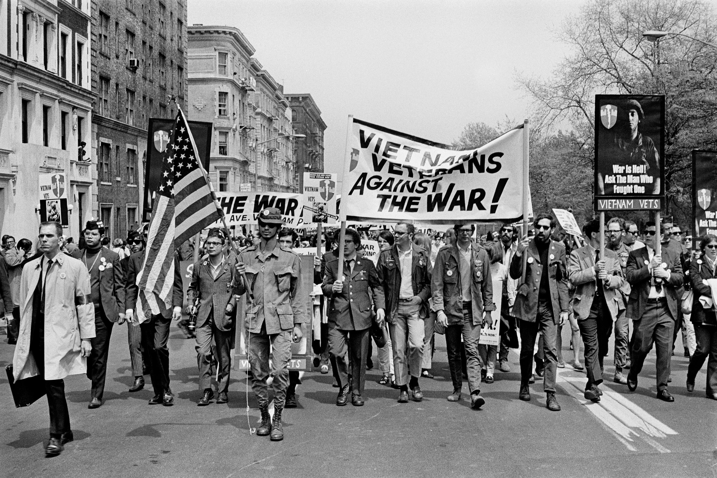 Vietnam Veterans Against the War, National Spring Mobilization to End the War in Vietnam, Manhattan, April 15, 1967, © Builder Levy