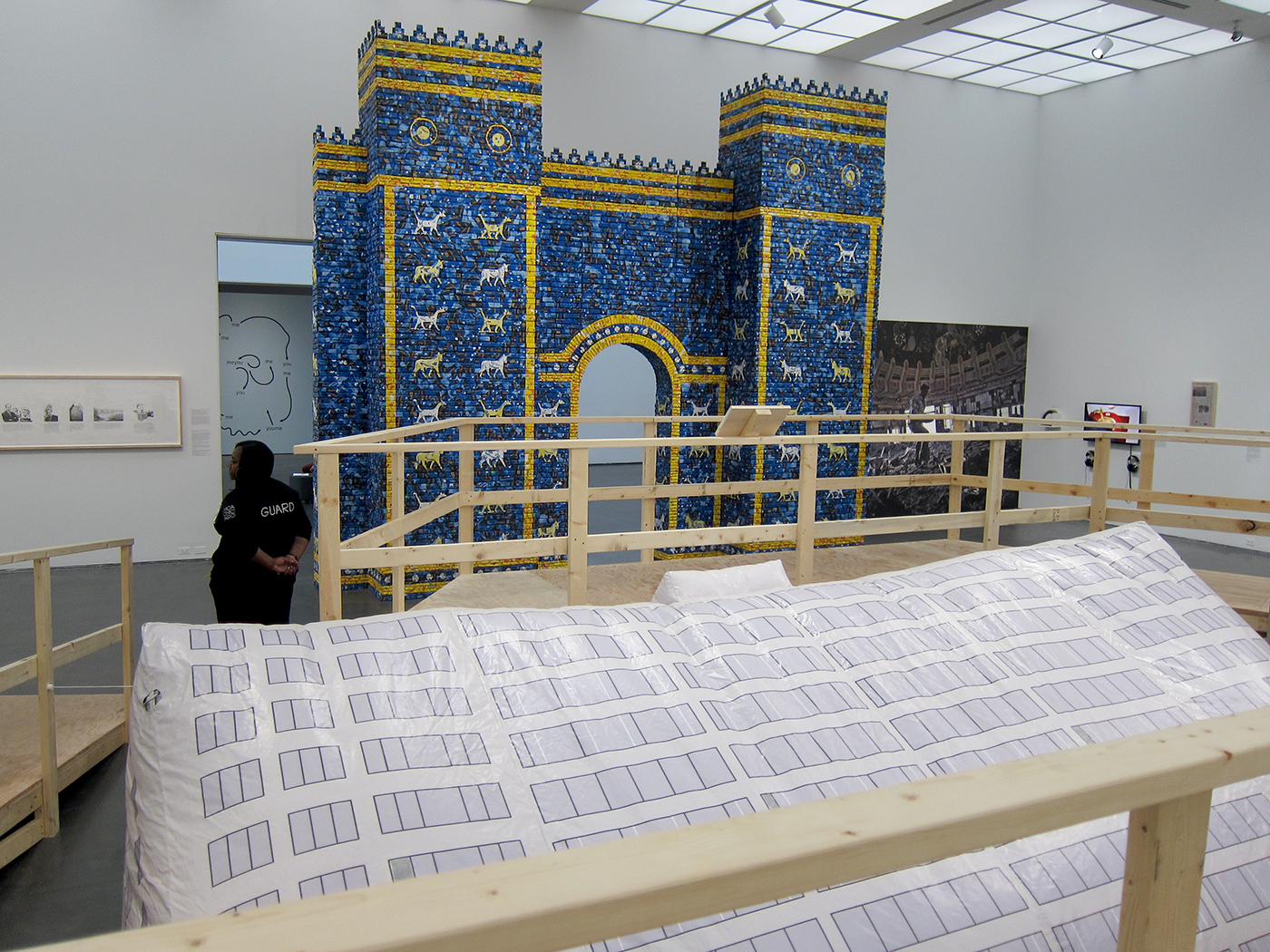 Installation view of  Michael Rakowitz: Backstroke of the West at the Museum of Contemporary Art, Chicago.  Image by Claire Voon for Hyperallergic. Courtesty of Hyperallergic.
