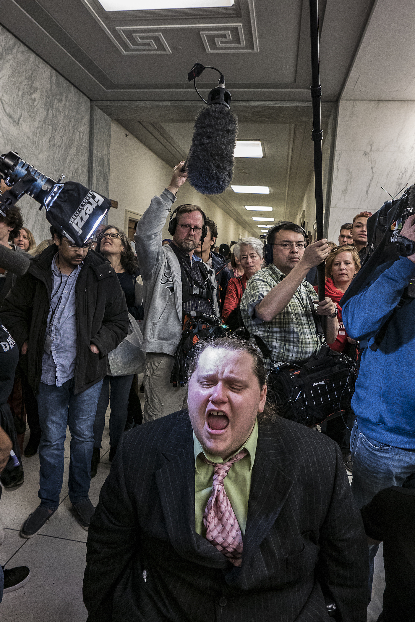 ©Ken Schles.  #GOPTax Scam Protests, Rayburn House Office Building, December 18, 2017, Washington DC