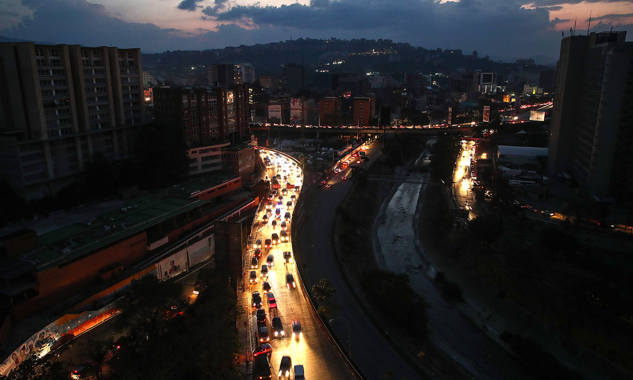 Caracas, Venezuela in the dark, on March 9th, 2019. ©Valery Sharifulin/TASS/Getty Images. Courtesy of IEEE Spectrum.
