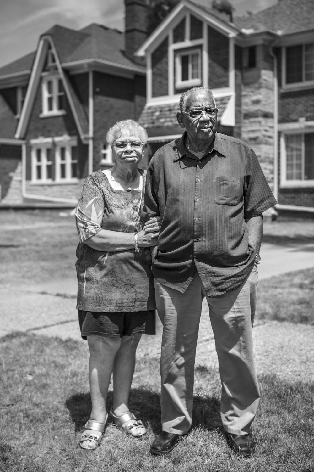 Charles Rayford, 78 with wife Lillian, 75. Former Air Force cartographer and retired auto worker. © Janice Milhem