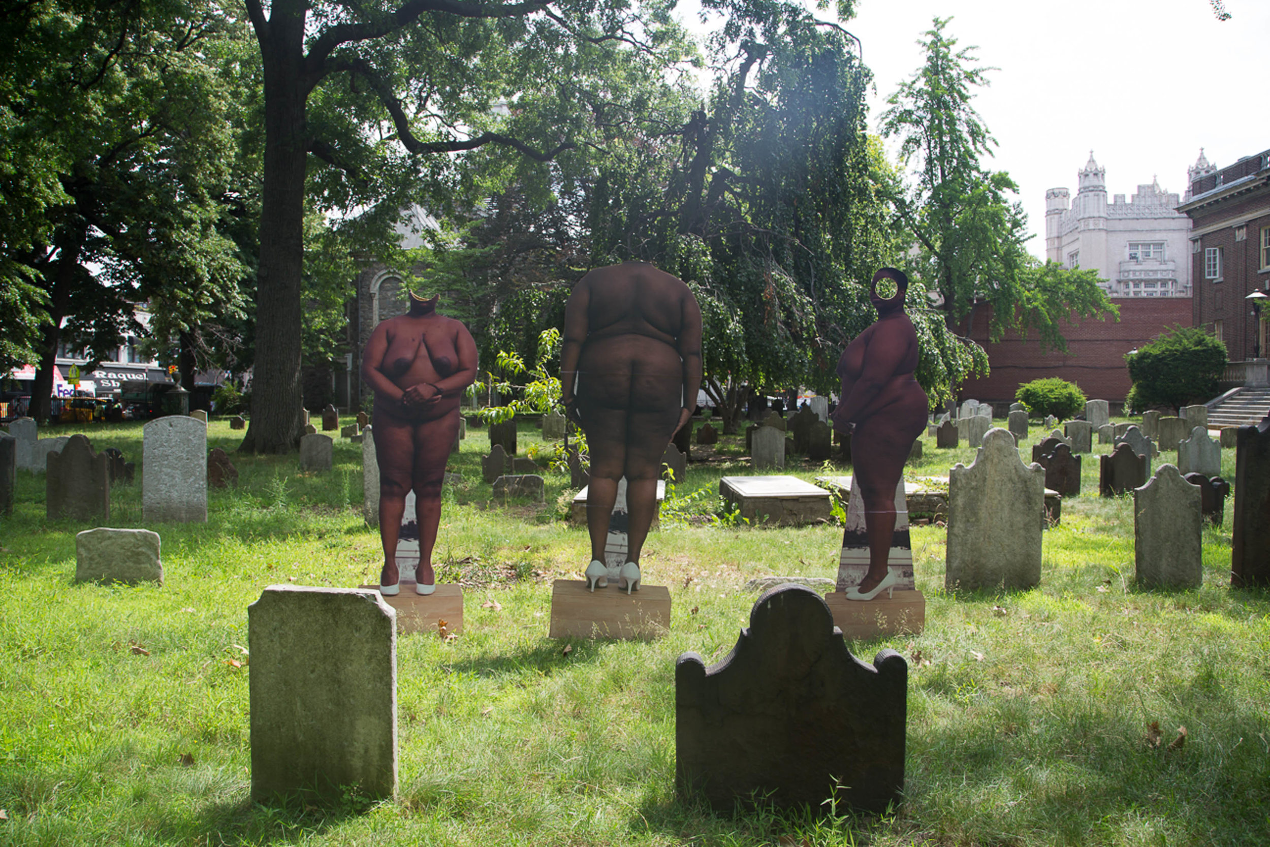 Nona Faustine,  Of My Body I Make Monuments In Your Honor,  Brooklyn, 2014.